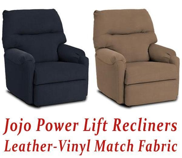 Jojo Power Lift Recliner In Leather Vinyl Match Of Electricliftreclinerchair