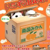China birthday gifts Original Japan Itazura cute Stealing Money Cat Penny Bank Coin Saving Box Gift on sale