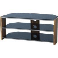 China Hollyhurst Walnut Veneer & Black glass Corner Tv Unit on sale
