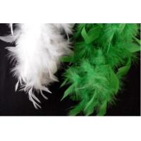 Cheap Multiple quantities/pricing available Fancy Feather Boa in Green or White for sale