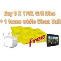 Cheap Offers with Free Gifts 6x 175 Litre Grit Bins and 1 Tonne White Rock Salt with Free Gift for sale