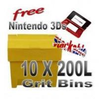 Cheap Offers with Free Gifts 10x 200 Litre Grit Bins with Free Gift for sale