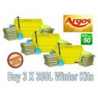 Cheap Offers with Free Gifts 3x 350 Litre Grit Bin Winter Pack with Free Gift for sale