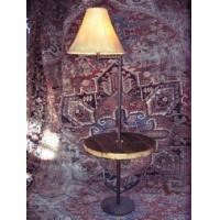 China Swing Arm Floor Lamp with 23 inch diameter rustic table on sale