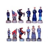 Chess Pieces CHE037-pcs - Civil War Union Confederate Chess Pieces