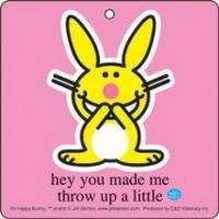 Cheap Happy Bunny Throw Up Air Freshener for sale