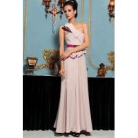 Buy cheap Evening Dress One Shoulder Champagne Color Cocktail Dress from wholesalers