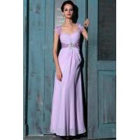 Buy cheap Evening Dress Purple Sweetheart Cap Sleeve Cocktail Dress from wholesalers