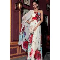 Buy cheap Evening Dress Floral Print Butterfly Sleeve Cocktail Dress from wholesalers