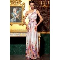 Buy cheap Evening Dress Colourful Satin One Shoulder Cocktail Dress from wholesalers