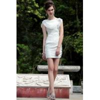 Buy cheap Evening Dress White Cowl Neck Short Cocktail Dress from wholesalers