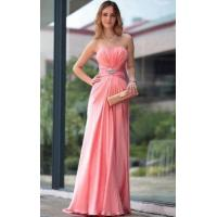 Buy cheap Evening Dress Ruched Strapless Evening Gown from wholesalers