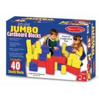 Cheap Melissa and Doug Toys Melissa and Doug Deluxe Jumbo Cardboard Blocks, 40 piece set for sale