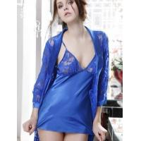 Buy cheap Fantastic Blue Nylon Spandex Lace Ladies House Dress from wholesalers