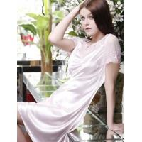 Buy cheap Charming Pink 90% Lycra 10% Silk Embroidered Ladies House Dress from wholesalers