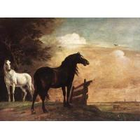 Oil Painting horses_f