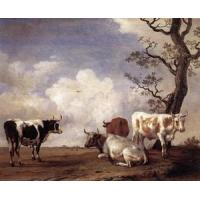 Cheap Oil Painting fourbull for sale