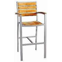 China Aluminium Teak Wood Armchair on sale