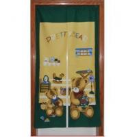 Cheap Door Decor Pretty Green Bear fabric Door Curtain D2915 for sale
