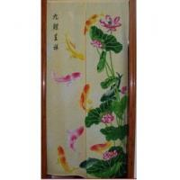 Cheap Door Decor Carp Lotus Flower fabric Door Curtain D2920 for sale