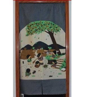 Quality Door Decor Child Enjoyment Garden Door Curtain D2903 wholesale