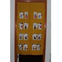 Cheap Door Decor Lovely Maneki Neko fabric Door Curtain D2910 for sale