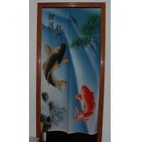 Cheap Door Decor Carp Jump Dragen gate Linen Door Curtain D2918 for sale
