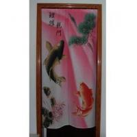 Cheap Door Decor Carp Jump Dragen gate Linen Door Curtain D2917 for sale