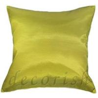 China Silk Pillow Cover Lime Green Thai Silk Pillow Cases on sale