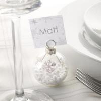 Buy cheap Shimmering Snowflake - Bauble Place Card Holders - 6 Pack from wholesalers