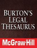 Buy cheap Burton's Legal Thesaurus from wholesalers