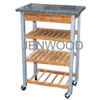 Cheap kitchen trolley 【Bamboo kitchen trolley with 1 drawer】 for sale