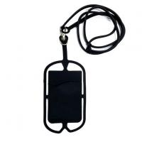 Cheap Silicone Hang Rope Cell Phone Card Holder for sale