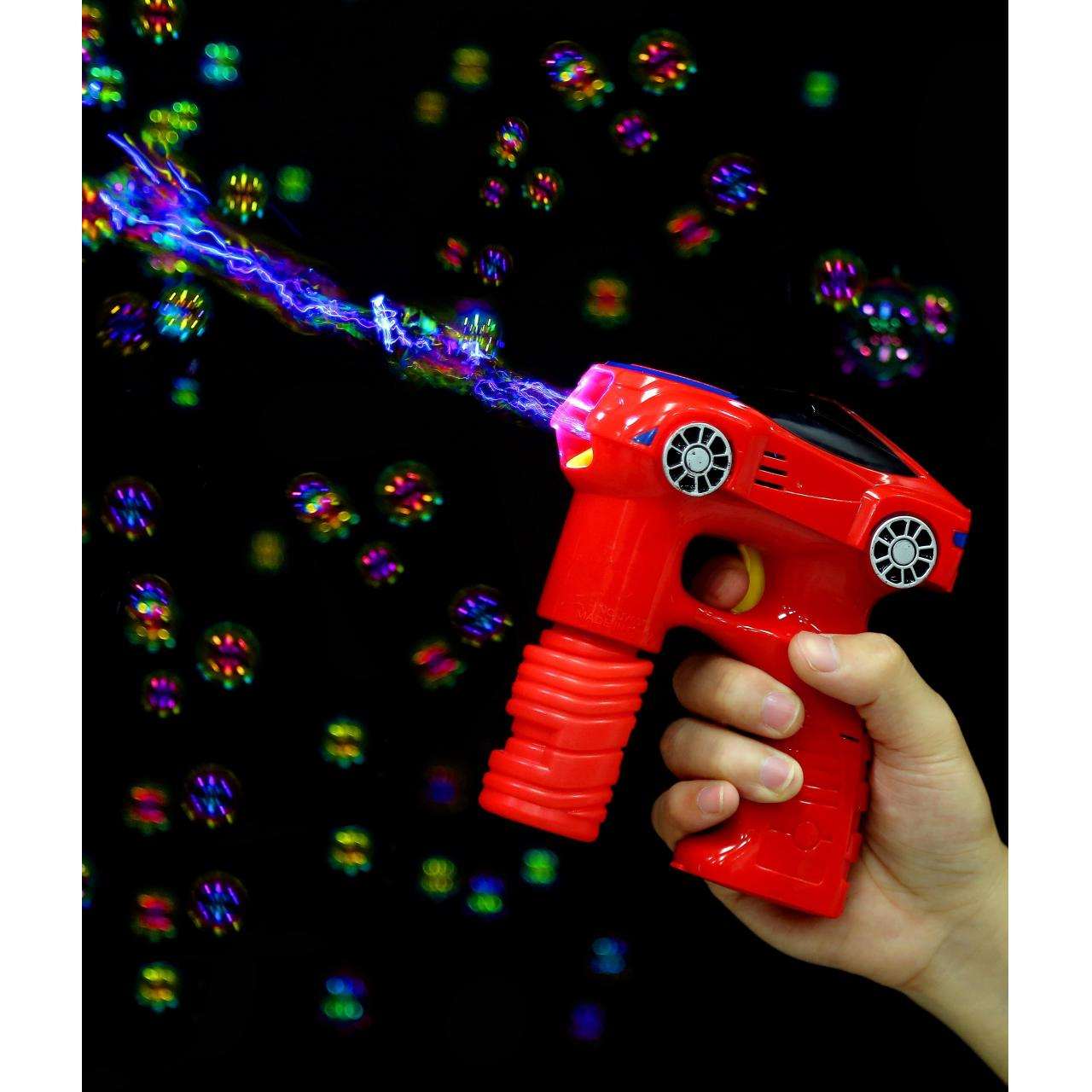 Cheap LED 7 Inch Bubble Gun - Car - Red for sale