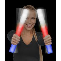 Cheap LED Foam Stick Baton Supreme - Red-White-Blue - 12 Pack for sale