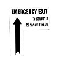 Buy cheap SB310LKIT DECAL - EMERGENCY EXIT TO OPEN LIFT UP RED BAR PUSH OUT from wholesalers