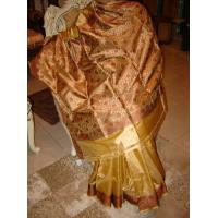Cheap GOLDEN Silk saree(Traditional) for sale