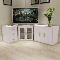 China White Cornered MFC TV Stand on sale