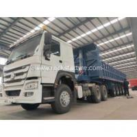 Buy cheap 6 axles dump truck trailer 45 cubic meter from wholesalers