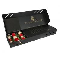 Cheap Black Corrugated Paper Flower Box for sale