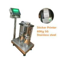 Buy cheap WF3040-6005 60Kg/5g high accuracy STAINLESS STEEL bench weighing scale with sticker printer from wholesalers
