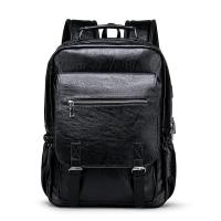 Buy cheap 14inch pu leather usb laptop backpack from wholesalers