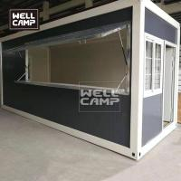 Buy cheap Wellcamp mobile container shop using by flat pack container homes simple sandwich panel from wholesalers
