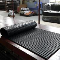 China Anti-bacteria ribbed Rubber drainaged flooring mat rubber ring holes for bathroom and toilet on sale