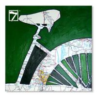 Cheap Artwork Prints Bicycle Map for sale