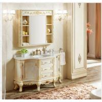 Cheap 2017 AD-1001 American Bathroom vanity single sink Wood Bathroom Cabinet with Mirror for sale