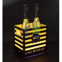 Cheap 2 Bottles Champagne LED Ice Bucket with Bars for sale