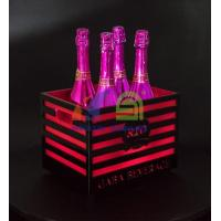 Cheap 4 Bottles Champagne LED Ice Bucket with Bars for sale