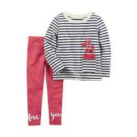 China Carter's Baby Girls' 2 Piece French Terry Top and Polka Dot Leggings Set 18 Months on sale
