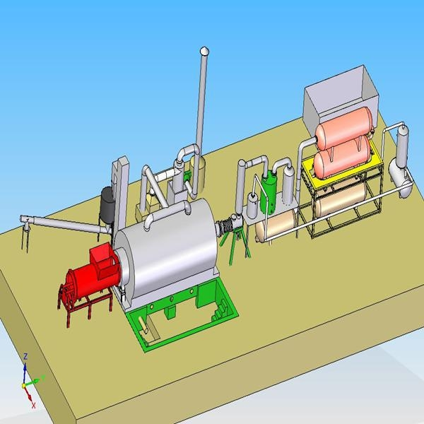 China Semi-Continuous Tyre Pyrolysis Plant
